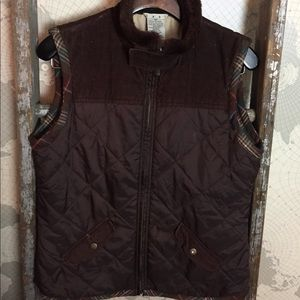 CAbi brown quilted vest M GUC